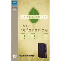 Zondervan 50180 Niv Large Print Reference Bible Black Imit Index