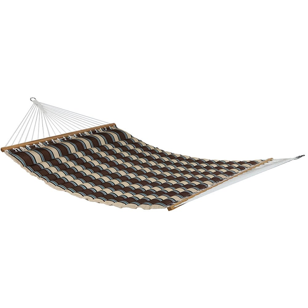 Sunnydaze Quilted Double Fabric 2-Person Hammock - Hammock Only - Thumbnail 1
