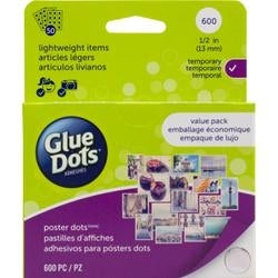 "600 Clear Dots - Glue Dots .5"" Poster Dot Sheets Value Pack"