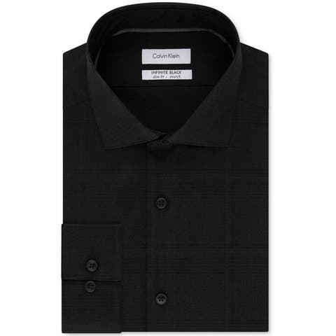 Calvin Klein Mens Infinite Button Up Dress Shirt