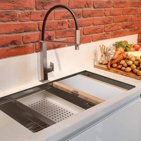 Trustmade Workstation Ledge Undermount Stainless Steel Kitchen Sink