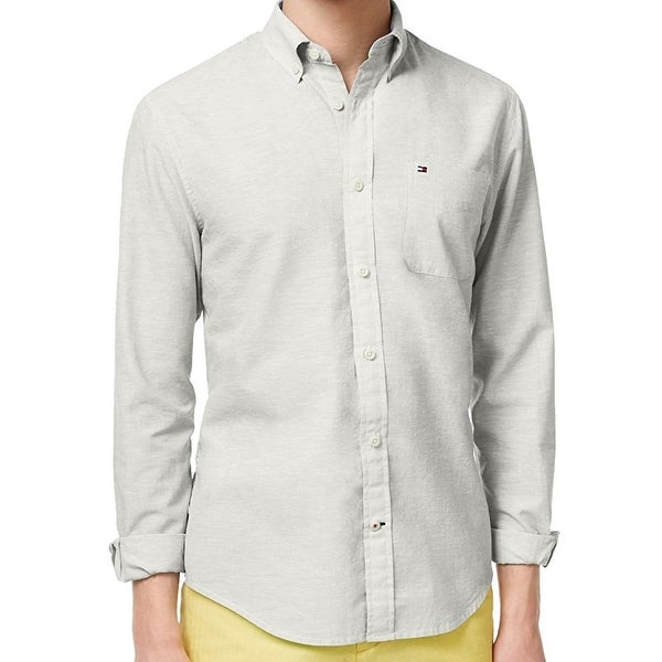 36492483 Shop Tommy Hilfiger NEW White Mens 2XL Custom Fit Pocket Button Down Shirt  - Free Shipping On Orders Over $45 - Overstock - 21415001