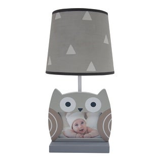 Bedtime Originals Gray Little Rascals Lamp with Shade & Bulb