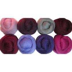 """Lilacs - Wool Roving 12"""" .25Oz 8/Pkg"""