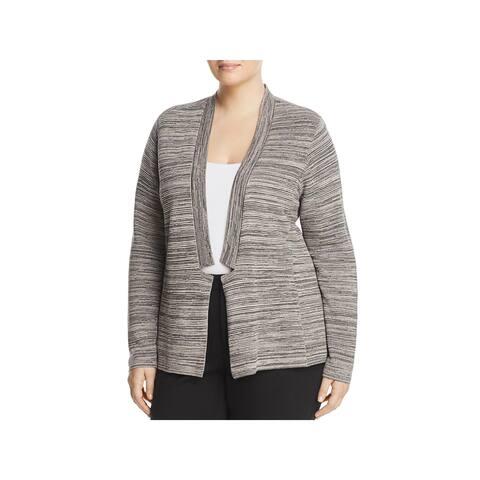 Eileen Fisher Womens Plus Cardigan Sweater Lightweight Space Dye