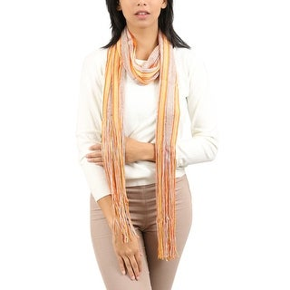 Link to Missoni  Gold/Orange Striped Scarf - 14-72 Similar Items in Scarves & Wraps