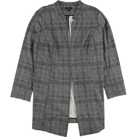 Alfani Womens Plaid Topper Jacket