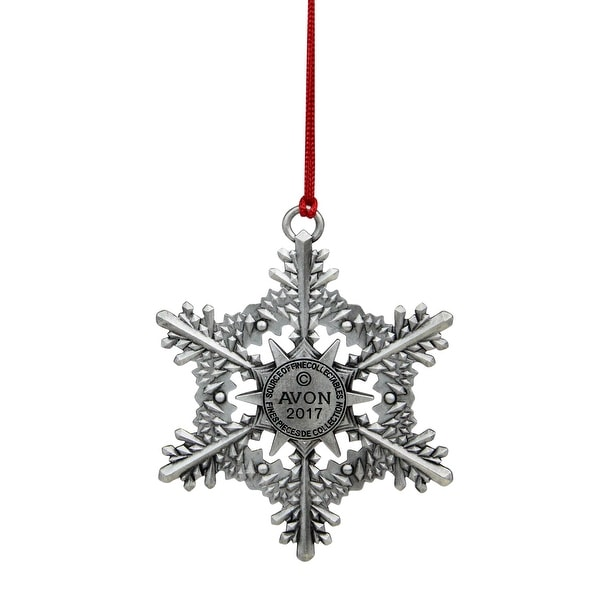 4 RED /& SILVER GLITTER 4.5 INCH SNOWFLAKE CHRISTMAS ORNAMENTS DECORATION