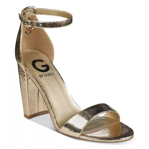 G By Guess Women's Shantel Two-Piece Sandals Shoes Gold Size 8 M