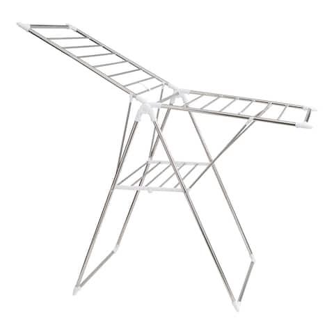 "Neu Home Silver Collapsible Folding Drying Rack - 61"" x 24.4"" x 39.8"""