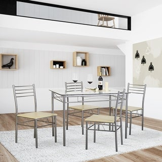 kitchen dining table set glass table and 4 chairs kitchen table setsilver