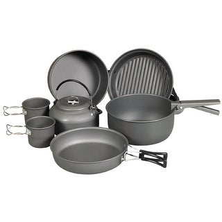 NDuR - 9 Piece Cookware Mess Kit With Kettle 22900