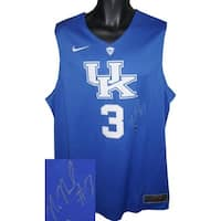 Signed Nerlens Noel signed Kentucky Wildcats Blue Nike Hyper Elite Authentic Jersey XL Nerlens Noel