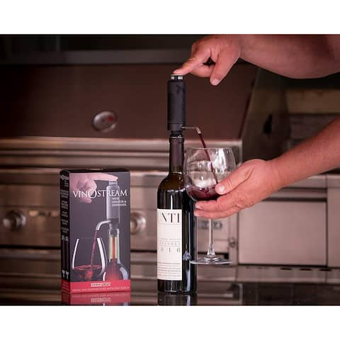 Cork Pops Vinostream 2-in-1 Wine Aerator & Dispenser, 9""