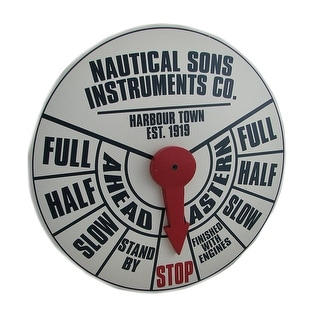 Black White Red Engine Throttle Dial Wall Plaque w/Movable Pointer