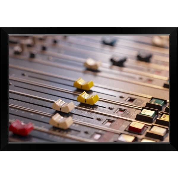 """Studio mixer"" Black Framed Print"