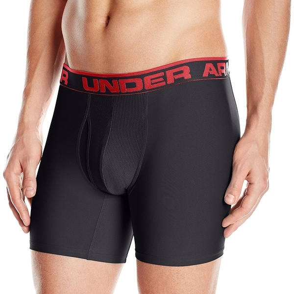 """80cff9a8b Shop Under Armour Men s Original Series 6"""" Boxerjock - Black - X Large -  Free Shipping On Orders Over  45 - Overstock - 18055227"""