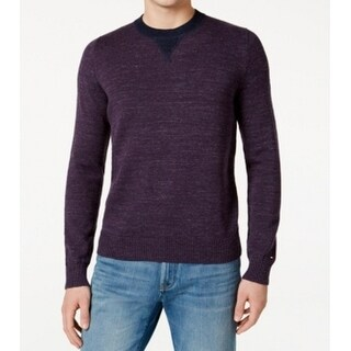 Tommy Hilfiger NEW Plum Purple Mens Size XL Heathered Crewneck Sweater
