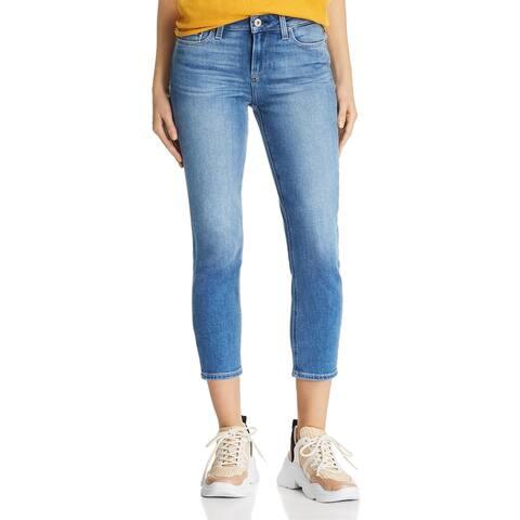 Paige Womens Skyline Skinny Jeans Denim Crop - Renzo