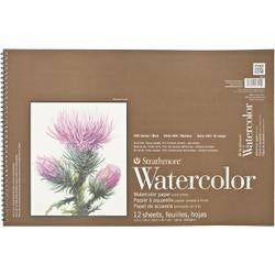 "140lb Cold Press 12 Sheets - Strathmore Watercolor Paper Pad 12""X18"""