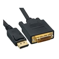 Offex DisplayPort to DVI Video Cable, DisplayPort Male to DVI Male, 3 foot