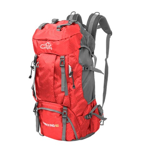 60L Waterproof Lightweight Hiking Backpack with Rain Cover