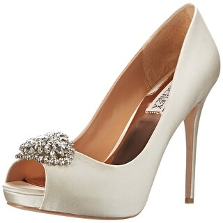 Badgley Mischka NEW Ivory Women's Shoes Size 10M Jeannie Pump
