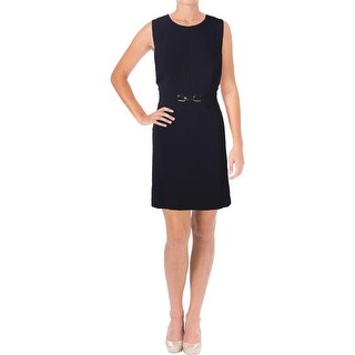 Tahari ASL Womens Petites Wear to Work Dress Embellished Sleeveless - 12P