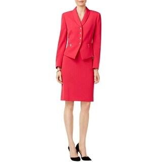 Tahari ASL Four Button Jacket Skirt Suit - 16