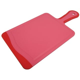 Microban Antimicrobial Paddle Cutting Board With Handle Cherry Red , 14x7 Inches - 8' x 11'