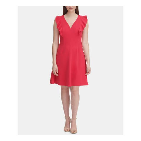 TOMMY HILFIGER Coral Sleeveless Knee Length Dress 12