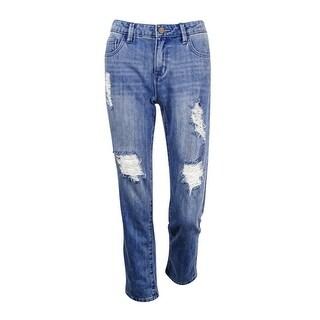 Rachel Roy Women's Ripped Straight-Leg Jeans (Babylon Wash, 27) - babylon wash