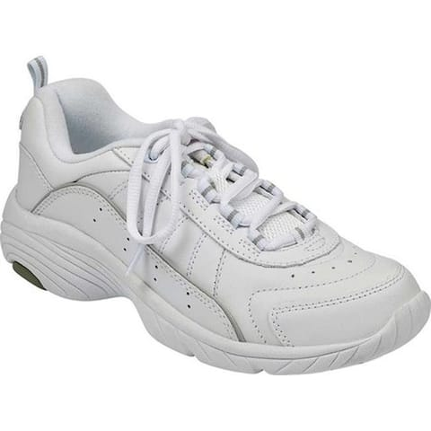 f34ff16618b7 Easy Spirit Women s Punter White Light Gray Leather