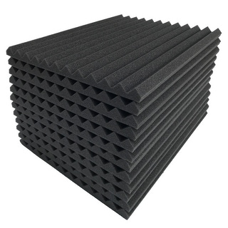 "36 Pack Acoustic Foam Panel Wedge Studio Soundproofing Foam Wall Tiles 12X12X1"" - charcoal"
