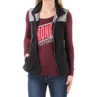 ENERGIE Womens New 1331 Black W/long Sleeve Shirt Sleeveless Top XS Juniors B+B