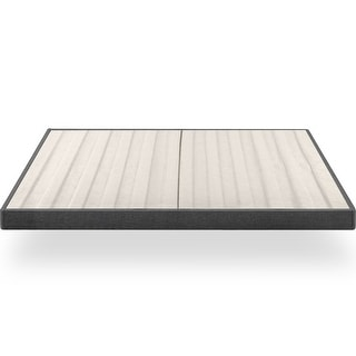 Link to Priage by ZINUS Upholstered Metal Box Spring with Wood Slats, 4 Inch Mattress Foundation Similar Items in Bedroom Furniture