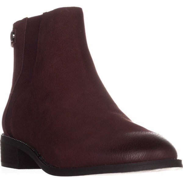 Franco Sarto Brandy Flat Casual Ankle Boots, Burgundy