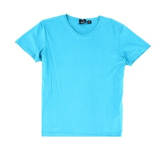 Hugo Boss NEW Blue Mens Size Medium M Slim Fit V-Neck Tee T-Shirt