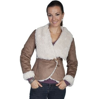 Scully Western Jacket Womens Long Sleeve Very Soft Faux Fur 8035