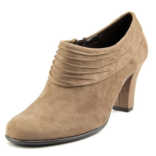 Aerosoles Starring Role Women Round Toe Canvas Tan Bootie