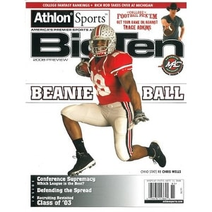 Chris Wells unsigned 2008 Ohio State Buckeyes Preseason Big Ten Magazine Preview Beanie Ball