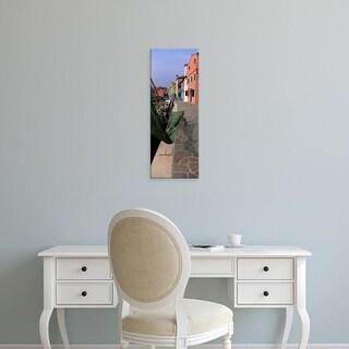 Easy Art Prints Panoramic Images's 'Houses along a road, Burano, Venetian Lagoon, Italy' Premium Canvas Art