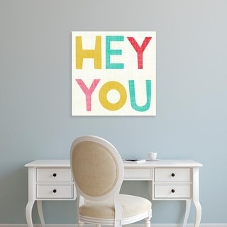 Easy Art Prints Chariklia Zarris's 'Hi You II' Premium Canvas Art