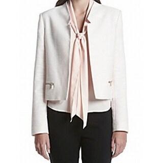 Calvin Klein NEW Pink Women's Size 14 Textured Knit Blazer Jacket
