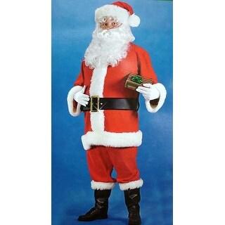 6-Piece Regency Red Santa Claus Christmas Costume Suit - Adult Size (40-48)