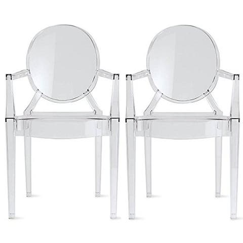 Designer Chairs With Arms Armchairs Transparent For Dining Room Living Room With Oval Back Clear Office