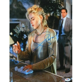 Sharon Stone Signed Basic Instinct With Ice Pick In Hand 11x14 Photo