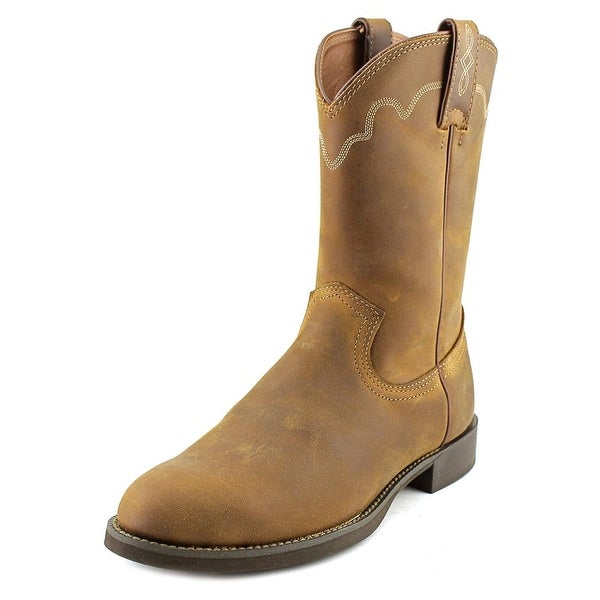 Justin Boots Stampede Roper Men Round Toe Leather Western
