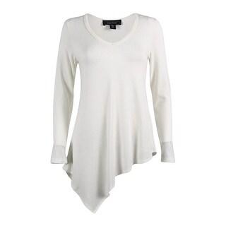 Karen Kane Women's Asymmetrical Hem Long Sleeve Tunic Sweater