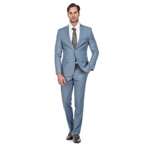 Porto Filo 2 Pcs Light Blue Slim-Fit Men's Suit